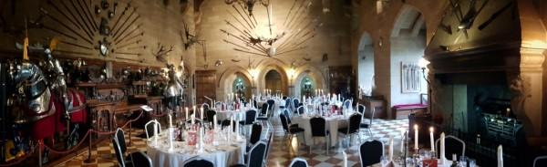 Warwick castle dinner tables